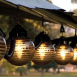 patio lighting and decor