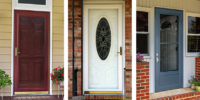 how to paint aluminum storm door