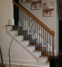 how to paint metal railings indoor
