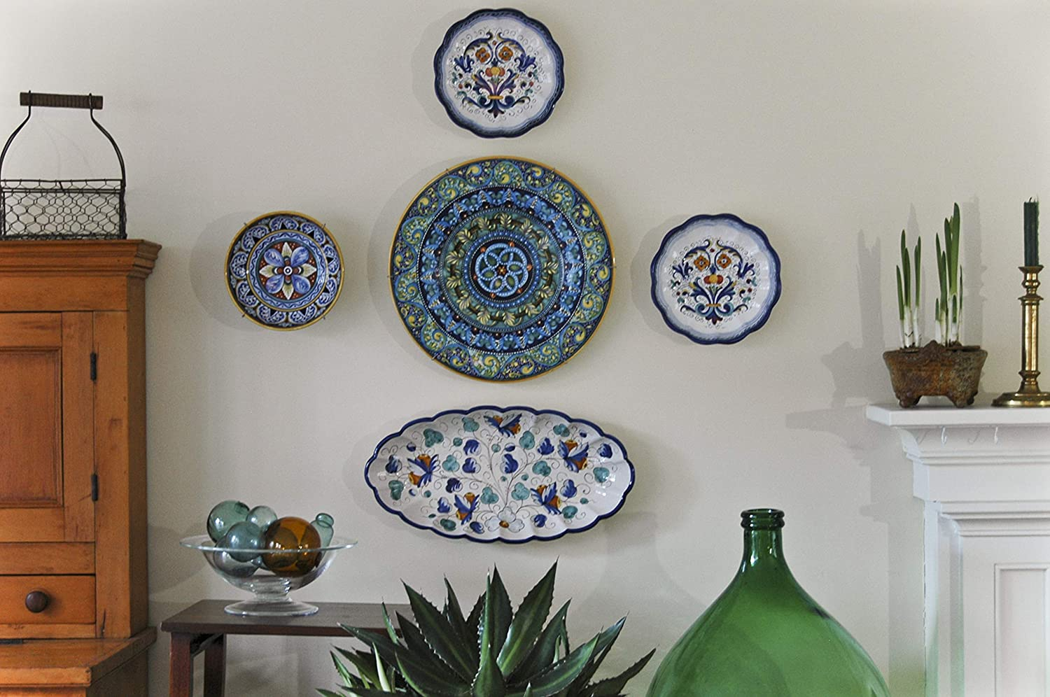 large bowls on wall